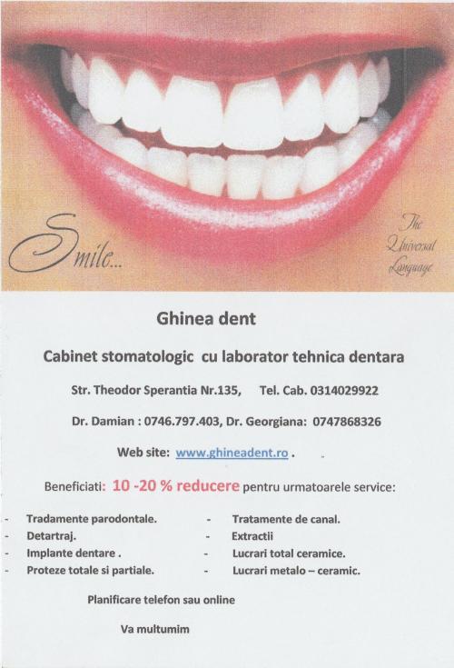 Ghinea Dent - Cabinet de Stomatologie