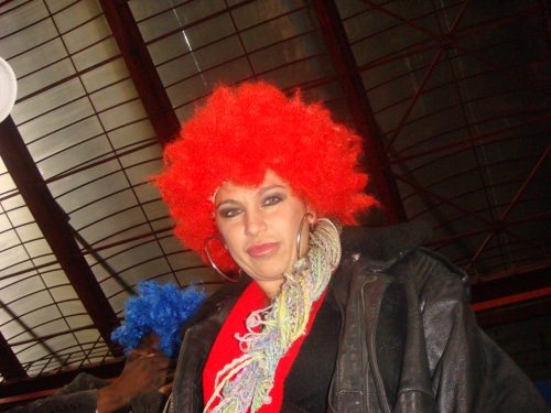 Carmen Plesea cu peruca