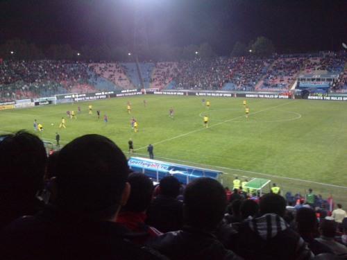 In timpul meciului
