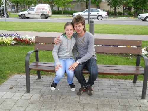 Florin Hentz in parc in Ungaria