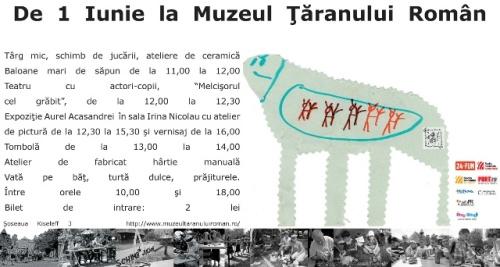 De 1 Iunie la Muzeul Ţăranului Român – schimb de jucării, ateliere pentru copii, târg mic