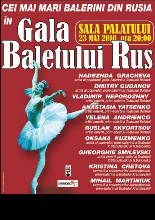 Afis GALA BALETULUI RUS -23 mai 2010--