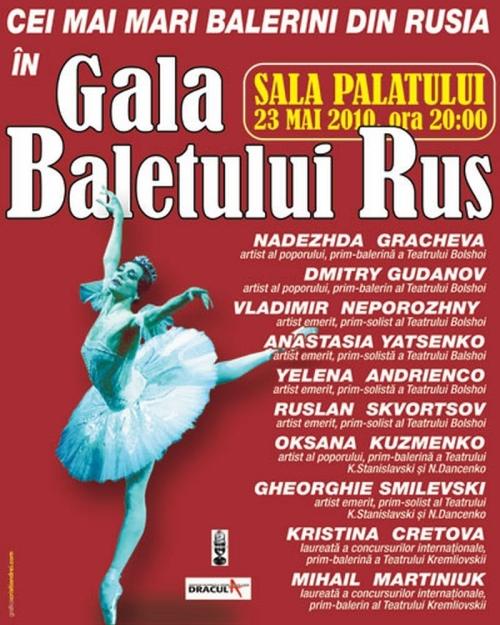 Afis GALA BALETULUI RUS 23 mai 2010