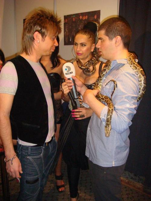 Florin Hentz si Carmen Plesea la interviu