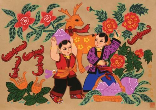 Pictură ţărănească din China (2)