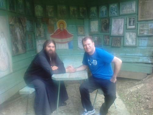 Cu parintele Serghie la izvor