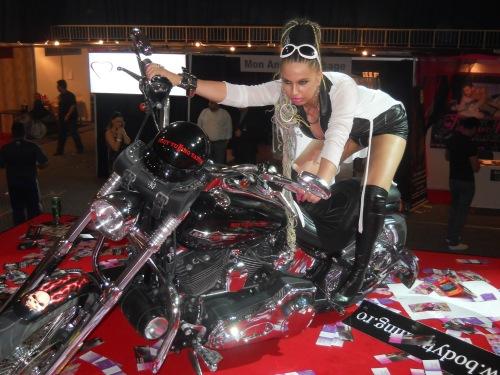 Carmen Plesea pe motor
